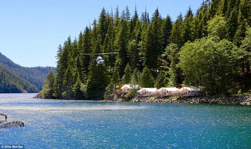 Located on Vancouver Island in Canada, the Clayoquot Wilderness Resort has an abundance of nature on its doorstep