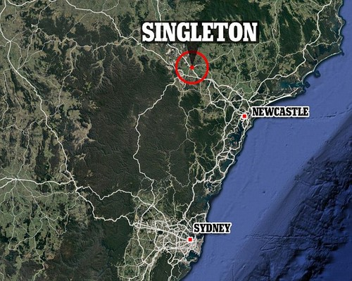Truck driver led out of hospital after Singleton crash