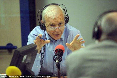 John Humphrys, pictured, has sparked a furious backlash after saying the 'scales have been tipped a little too far' in favour of victims of sex attacks on the BBC Radio 4 Today programme