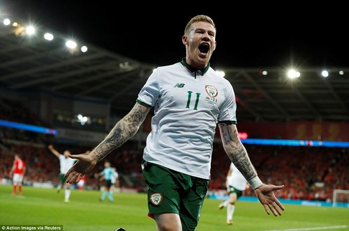 James McClean fired Republic of Ireland into a World Cup play-off spot after smashing home just before the hour