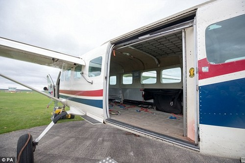 They were also taken to see an aeroplane similar to the one used in the failed skydive