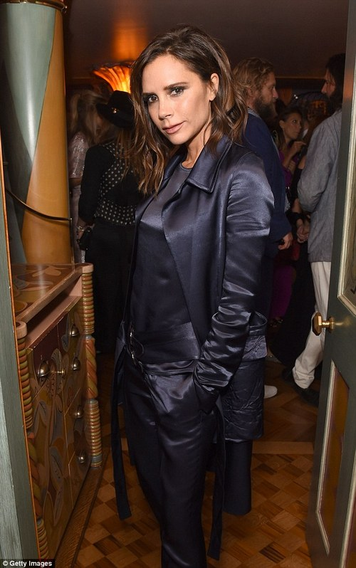 Accounts: Victoria Beckham Ltd was established in 2014 with David as a director. The company had £34 million turnover but it registered a profit of only £1.23 million (Pictured in 2016)