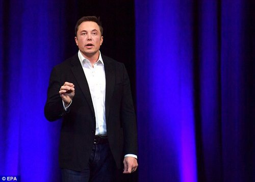 It was recently revealed that a tech company backed by billionaire Elon Musk (file photo) is developing a 'brain-computer interface' that could give people super intelligence and allow them to communicate telepathically