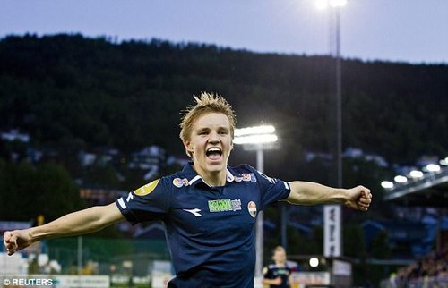 Odegaard originally hit the headlines after breaking into the Stromsgodset side at 15