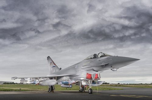 BAE is facing an order gap for the Typhoon (pictured) so production is being slowed ahead of an expected order from Qatar