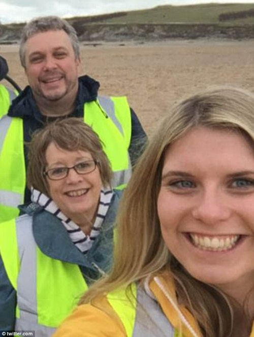St Austell MP Steve Double is also on there for having an affair with his office liaison with Sarah Bunt, 26, but was taken back by his forgiving wife Anne in 2016 (all pictured together)