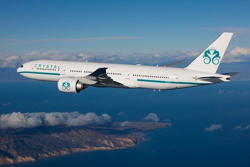 Getting an upgrade: Crystal already operates a Boeing 777-200ER (seen above) but as of last month it started running flights on its new five-starBoeing 777-200LR