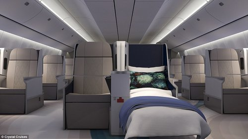 Room for all: This is the interior of what has been heralded as the most luxurious commercial jet ever