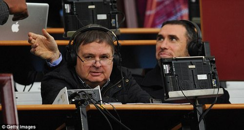 Ford, who presents overseas football coverage, has also previously criticised Alan Green (left)