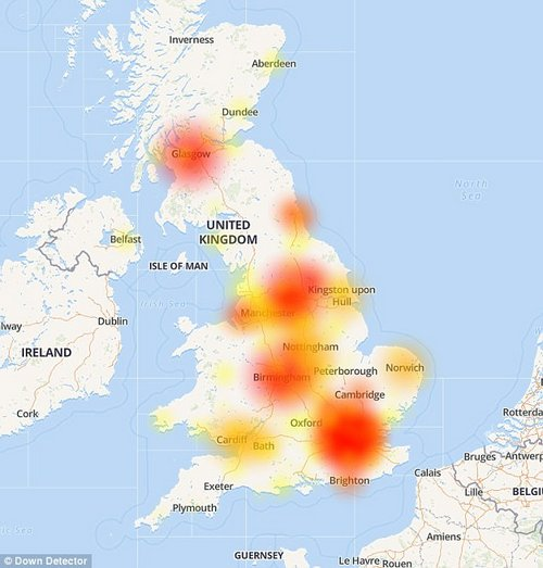 In April, EE suffered a major outage, with customers across the UK unable to access 3G and 4G internet services