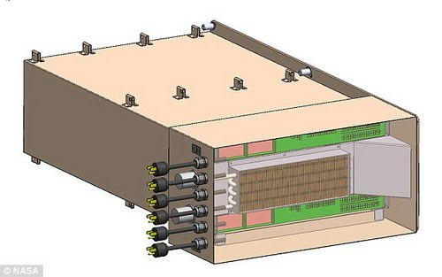 The goal of the mission is to test the Spaceborne Computer (rendering pictured) for one year to see if it can operate in the harsh conditions of space, about the same amount of time as it would take for astronauts to arrive at Mars