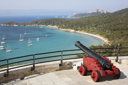 Porquerolles is ringed by stunning beaches, which can be reached by foot or bicycle