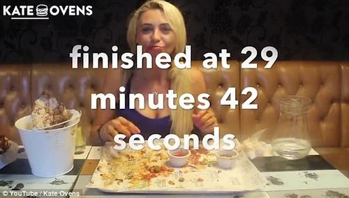 Kate completed the challenge in just under 30 minutes and her video has so far amassed more than 4,000 views