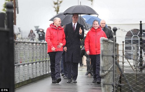 William visited the Titanic Quarter to see the work of Lagan Search and Rescue, a rescue and lifeboat service