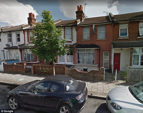 The pink-coloured house in Streatham where an investigator looked inside the kitchen and came to the conclusion the fire had been started deliberately