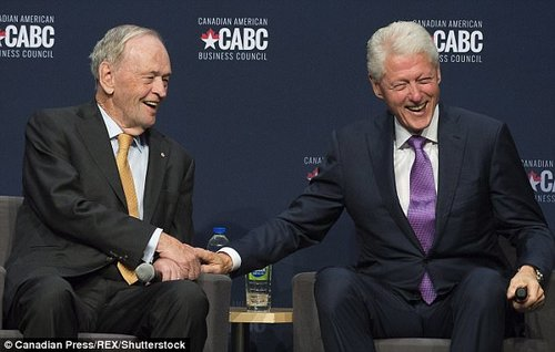 Meanwhile Bill attended a public event to mark Canada's 150th anniversary in Montreal last week, as he met former Prime MinisterJean Chretien