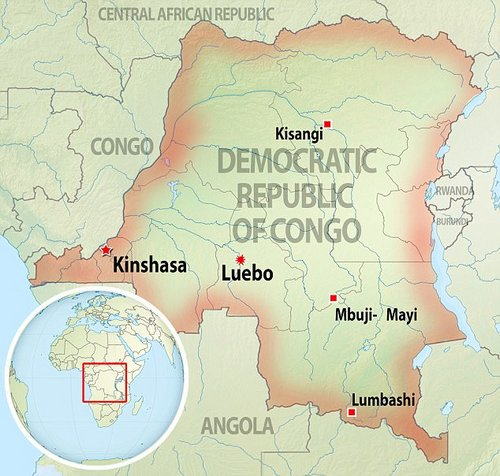 The executions took place in Luebo, in thethe province of Kasaï-Occidental in the Democratic Republic of Congo
