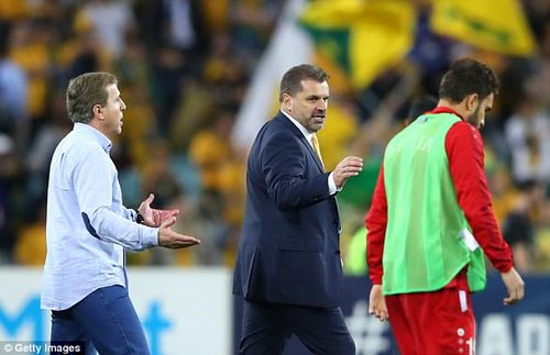 Postecoglou was involved in further controversy after the Syria match when the irate opposing coach refused to shake his hand