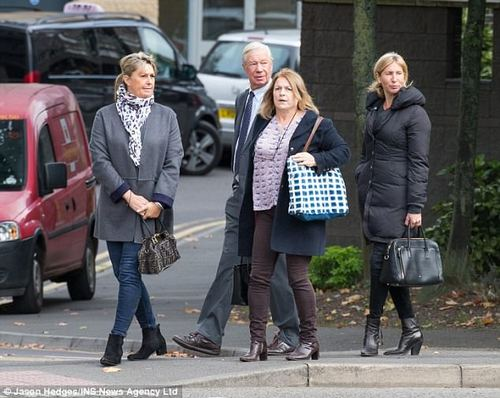 After her death, friends and loved ones (pictured at the inquest today) paid tributes to Miss Popely, whose father John has also represented Great Britain in equestrian events