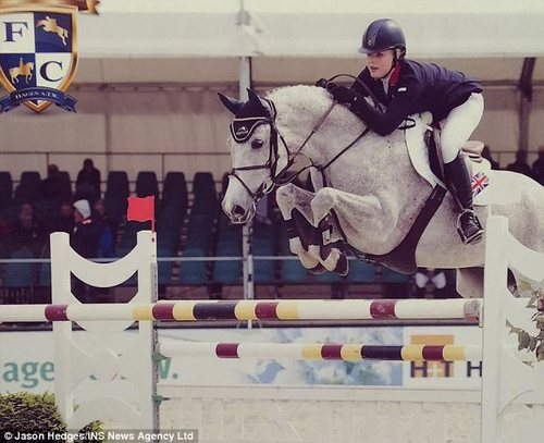The teenager competed in the Team GB junior riding squad and took part in competitions around the world