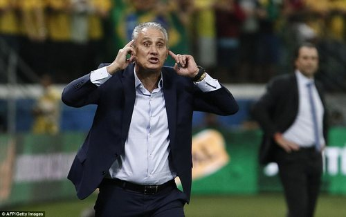 Brazil manager Tite led his side into Tuesday night's contest knowing their place in Russia was already secured