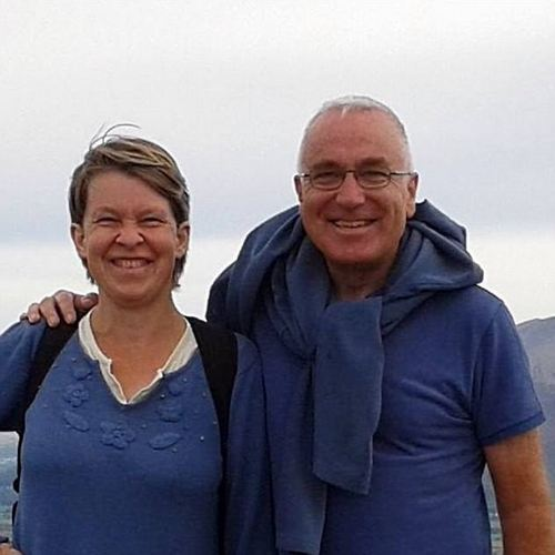 Bryant was driving back to her home in Port Carlisle, where she had recently moved with her husband, Eric (pictured together)