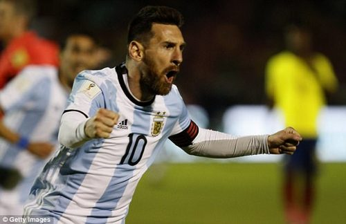 Messi guided Argentina to a 3-1 win after they fell behind after just 38 seconds in Ecuador