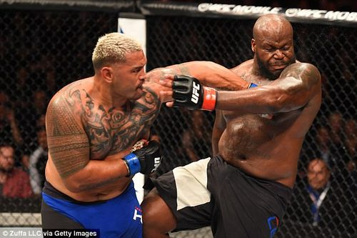 The veteran slugger (left) was pulled from the main event of the UFC Sydney card after he wrote an article for Players Voice describing the harmful effects of his long career