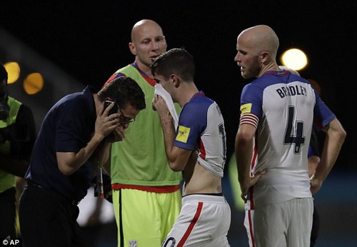 Pulisic and Michael Bradley can't believe their luck after the surprise defeat on Tuesday