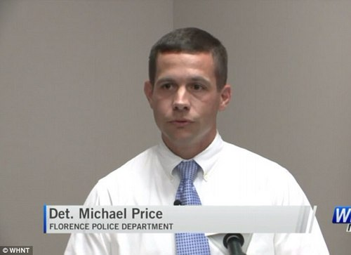 Police credit publicity from the incident with helping to track down Carroll before she turned herself on Tuesday (Pictured: Detective Mike Price Tuesday October 10, 2017)