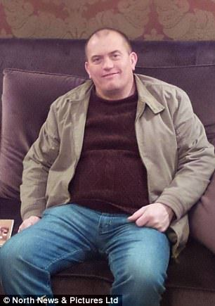 Tony Mason, 52, is a production supervisor in Hexham, Northumberland. He is pictured before going on the diet