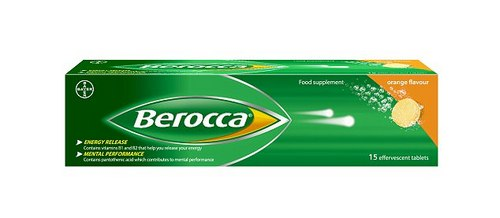 Berocca contains eight different B vitamins, which the manufacturers say are scientifically proven to help support energy release and mental performance
