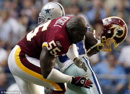 In 2010 the NFL implemented a rule that declares the ball dead the moment a runner's helmet comes completely off