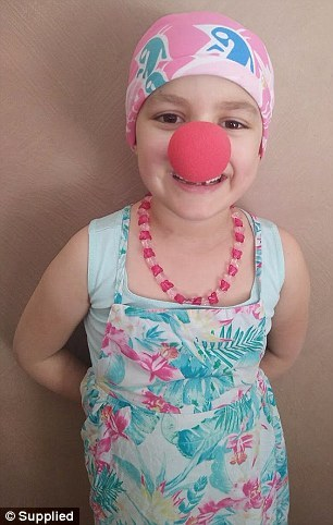 Aroha, who has been very ill over the past year, is helping bring joy to other sick kids