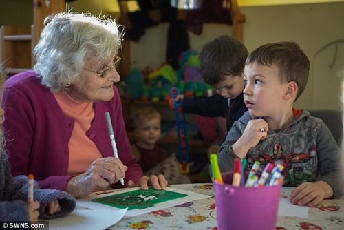 Joyce saysshe thinks of the youngsters at the nursery as her own children