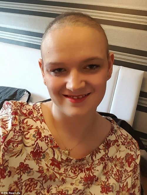The side-effects of therapy soon took hold and she lost her hair very quickly