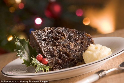 Christmas pudding can be a tasty way of increasing your fibre intake (stock image)
