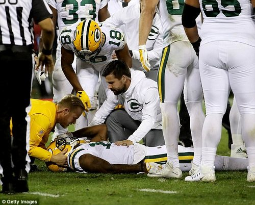 On September 28, 2017Packers receiver Davante Adams was knocked out after an illegal helmet-to-helmet hit, though the player who committed the foul was not ejected from the game