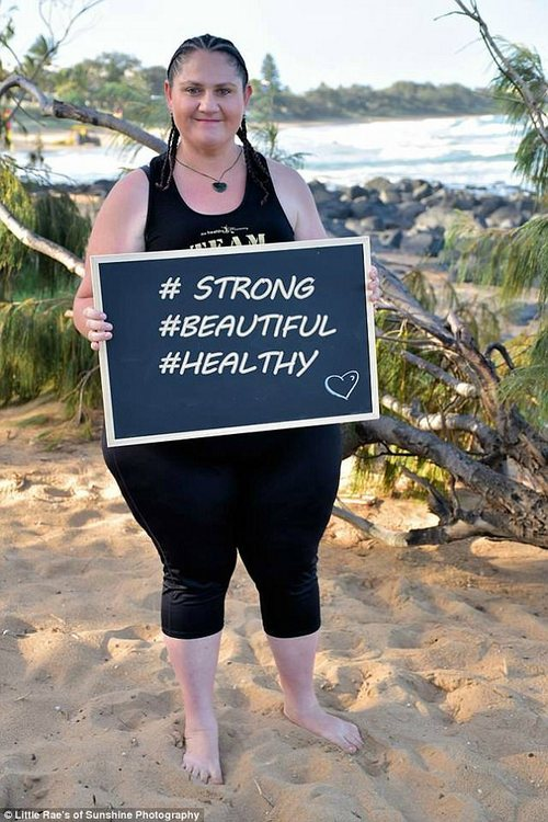 Deanna Mcphee who weighed 154 kilograms has since shed 25 kilos - her New Years resolution is to lose a further 24 kilos