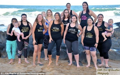 Around 10 Queensland women joined forces to celebrate their weight loss successes after completing The Healthy Mummy's 100 Days To Summer Challenge