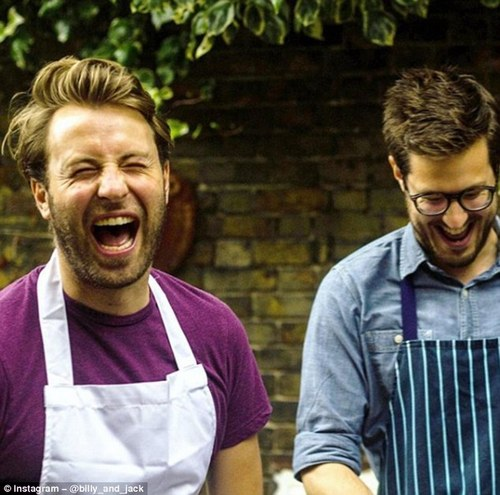 Billy has partnered up with fellow Masterchef finalist Jack Layer, pictured right