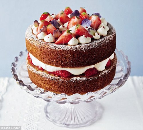 A classic Victoria sponge was the first cake Joyce taught Julie to make