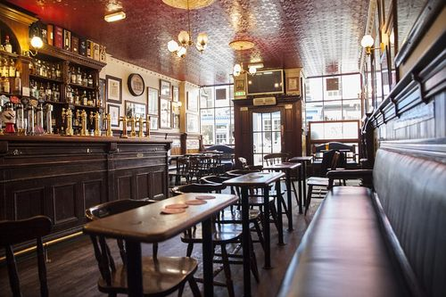 Simple, but effective: The Bow Bar describes itself as a 'no-frills compact local emphasising cask beers and single malts, with fresh soup and pie snacks'