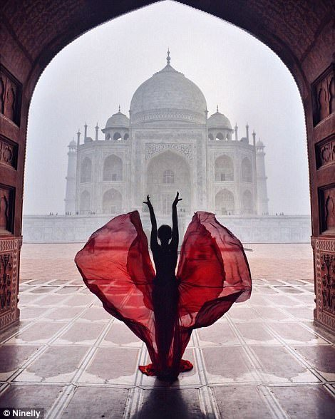 A misty morning view makes for a stunning photo in India