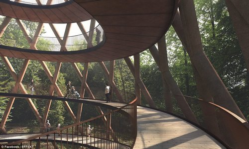 Crowd-pleaser: The Treetop Experience will be able to accommodate a maximal capacity load of 10,000 people
