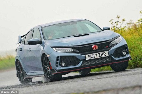 Our winner is the British-built Honda Civic Type R. As well as having a spacious boot and interior it also has superb handling and a spooling 2.0-litre motor