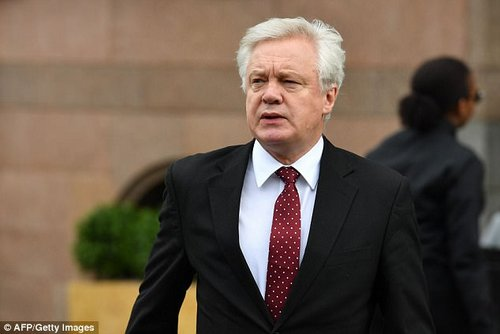 Brexit Secretary David Davis has reportedly also urged Mrs May to sack Johnson because of his interventions on the EU talks