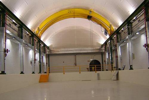 Second life: The railway station is now used as an astroparticle physics lab with experiments taking place in tunnels deep underground