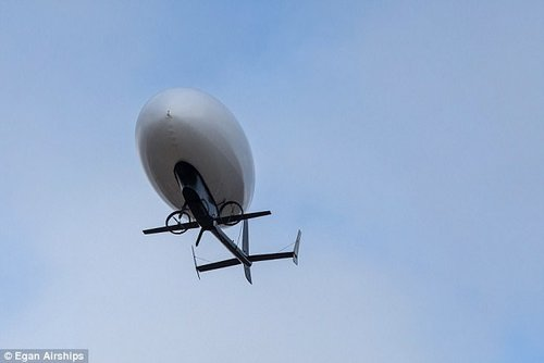 The aircraft, dubbed 'plimp,' is a new type of Unmanned Aircraft System, or drone, that can maneuver like like a plane, hover, take off and land vertically like a helicopter, and operate like a blimp