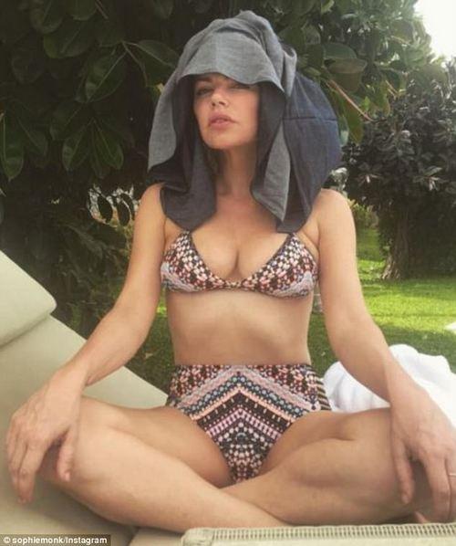 Bikini babe: Sophie is seen in a bikini in Thailand